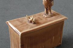Mann og fugler I Keramikk H27 cm 2500
