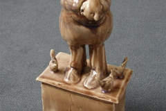 Mann og fugler II Keramikk H27 cm 2500