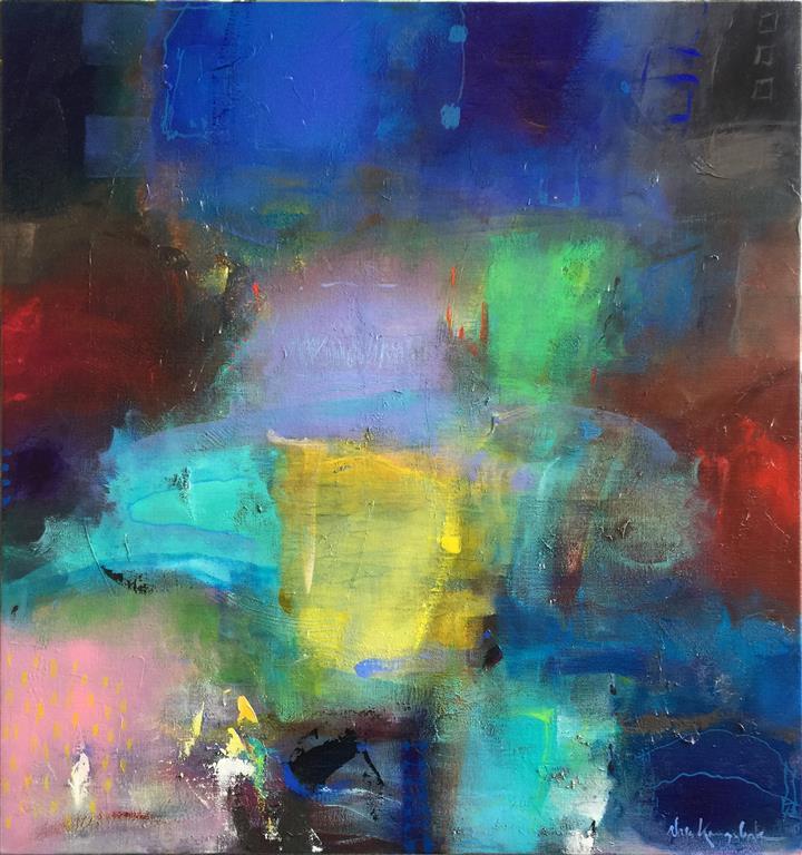 Så stille, så stille Akrylmaleri (80x75 cm) kr 9000 ur