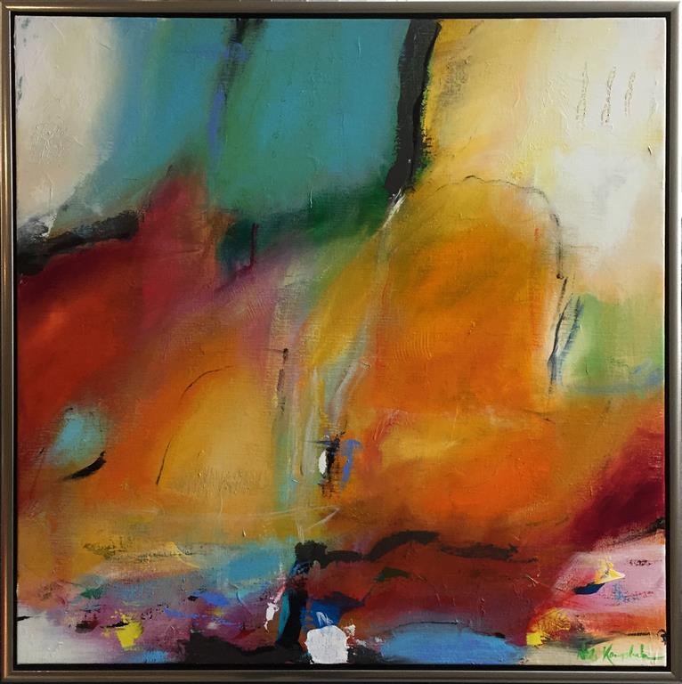Sommerdag Akrylmaleri (70x70 cm) kr 7800 mr
