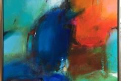 Blå dag Akrylmaleri (70x70 cm) kr 7800 mr