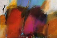 Modsætninger mødes Akrylmaleri (80x75 cm) kr 9000 ur