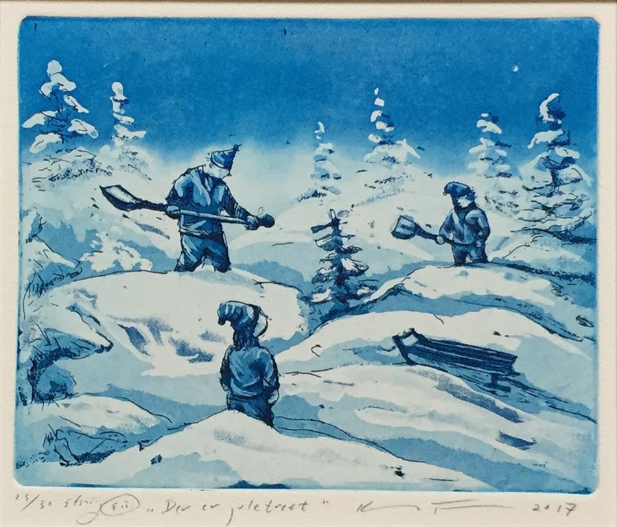 Der er juletreet Etsning (16x19,5 cm) kr 1500 ur