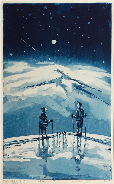 Stjernenatt Etsning (41,5x25,5 cm) kr 2000 ur
