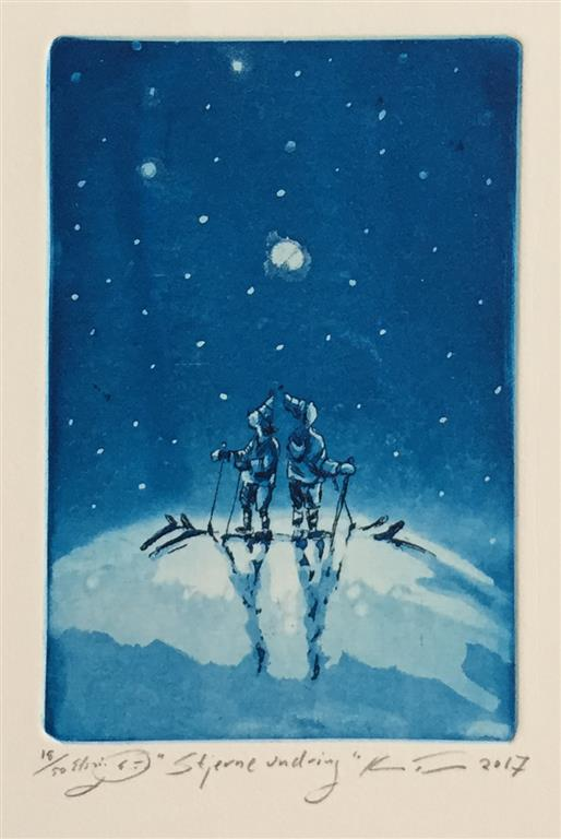 Stjerneundring Etsning (14,5x10 cm) kr 900 ur