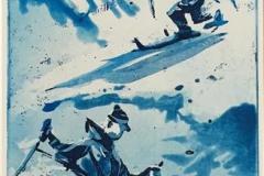 Fjellfriskt par Etsning (42x18 cm) kr 1900 ur