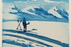 Fjellpause Etsning (20x22 cm) kr 1600 ur