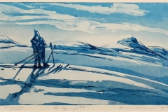 Vår dag i fjellet Etsning (20x34 cm) kr 1900 ur