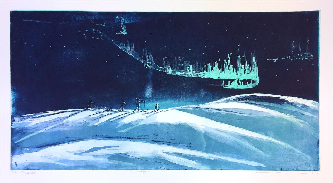 Inn i nordlyset Etsning (50x99 cm) kr 6000 ur