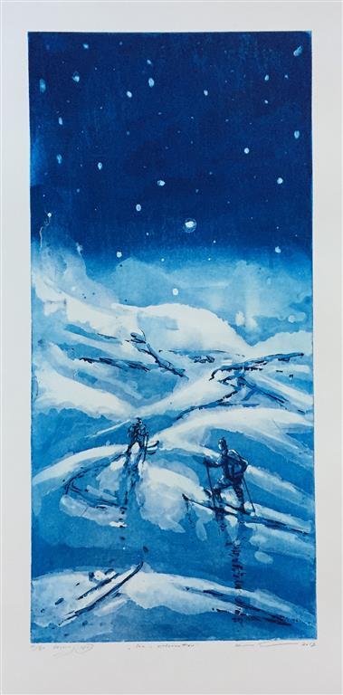 Inn i vinternatten Etsning (74x35 cm) kr 4000 ur