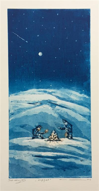 Snølykt Etsning (50x25 cm) kr 2700 ur
