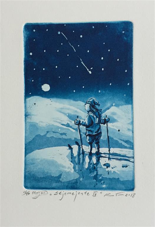 Stjernejente IV Etsning (15x10 cm) kr 900 ur