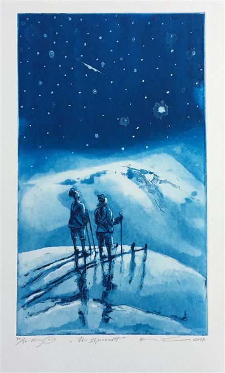 Vår stjernenatt Etsning (33x19 cm) kr 1700 ur