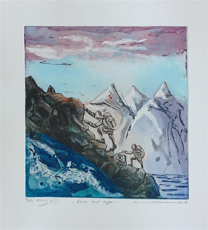 Veien mot toppen Etsning (24,5x24 cm) kr 1800 ur