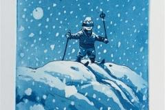 Gutten i snøen Etsning (20x15 cm) kr 1200 ur