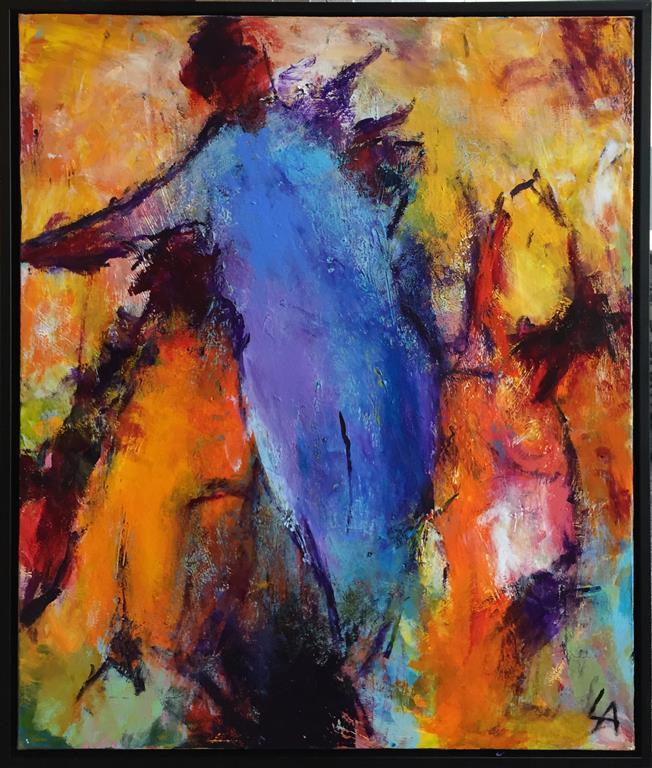 Blå rygg Akrylmaleri (65x55 cm) kr 6500 mr