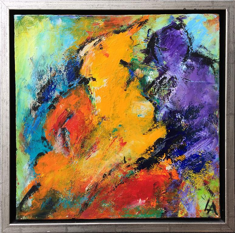 Fargekomposisjon 18 Akrylmaleri (30x30 cm) kr 2400 mr