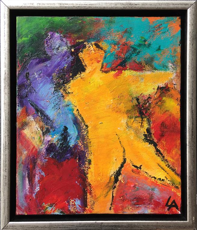 Fargekomposisjon Akrylmaleri (30x25 cm) kr 2400 mr