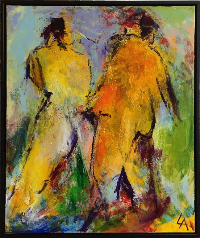 Gule rygger Akrylmaleri (65x55 cm) kr 6500 ur