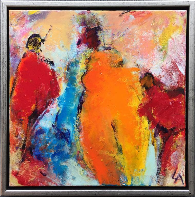 Komposisjon 10 Akrylmaleri (40x40 cm) kr 3600 mr