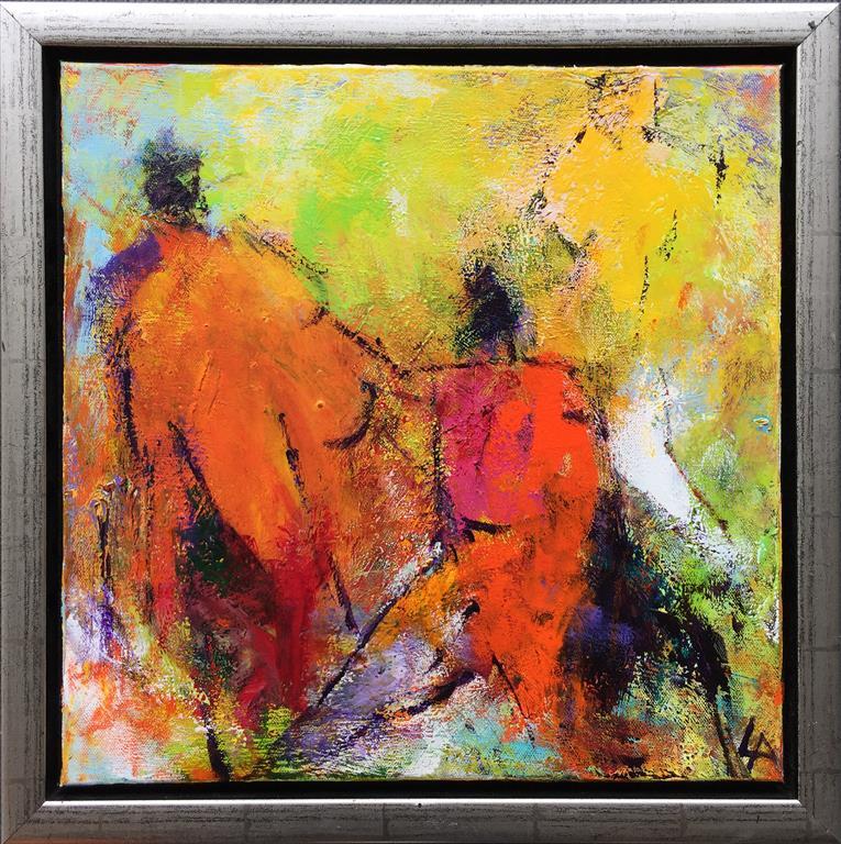 Komposisjon 4 Akrylmaleri (40x40 cm) kr 3600 mr