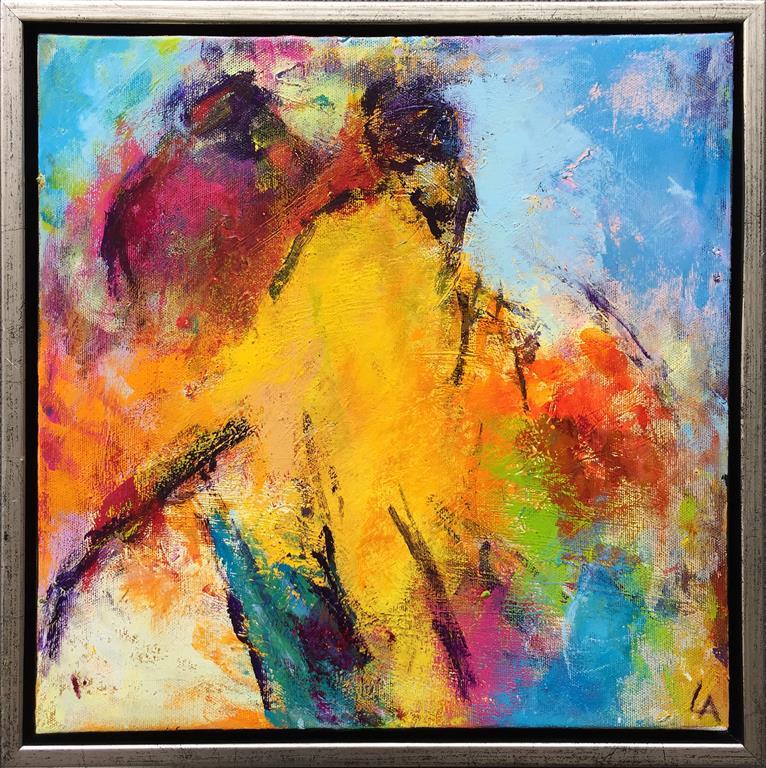 Komposisjon 8 Akrylmaleri (40x40 cm) kr 3600 mr