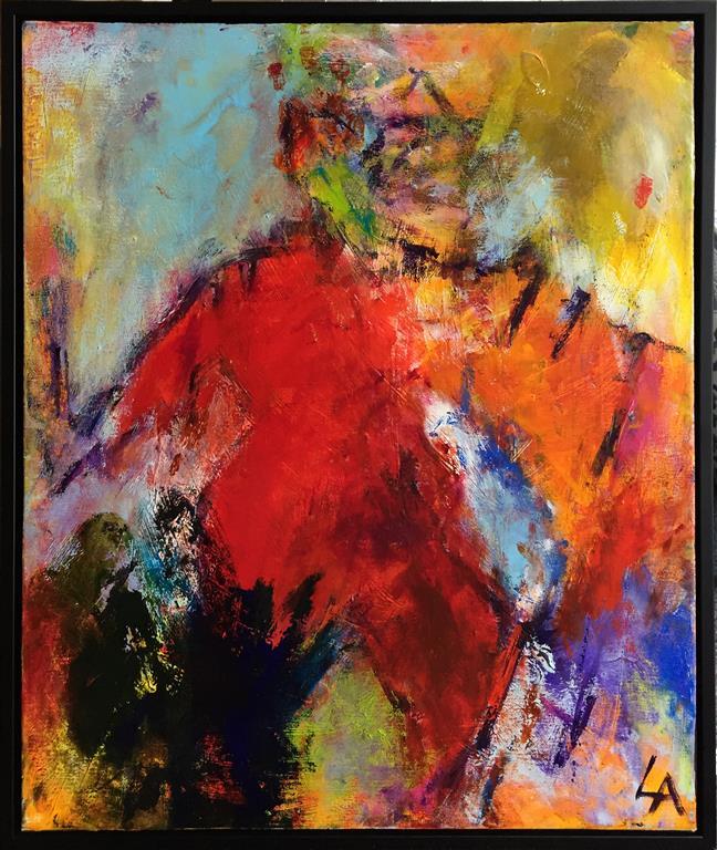 Varm kveld Akrylmaleri (55x45 cm) kr 5500 mr