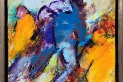 Figurkomposisjon Akrylmaleri (30x30 cm) kr 2600 mr