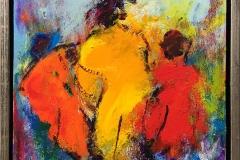 Komposisjon 14 Akrylmaleri (30x30 cm) kr 2600 mr