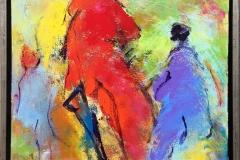 Komposisjon 5 Akrylmaleri (40x40 cm) kr 3600 mr