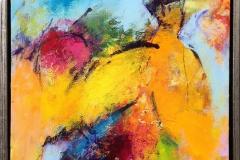 Komposisjon 7 Akrylmaleri (40x40 cm) kr 3600 mr