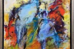Sløret Akrylmaleri (40x40 cm) kr 3200 mr