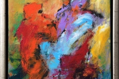 Vild dans Akrylmaleri (30x25 cm) kr 2400 mr