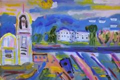 Daggry Aegina Oljemaleri 40x50 cm