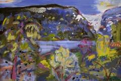 Vestlandsfjord Oljemaleri 60x80 cm