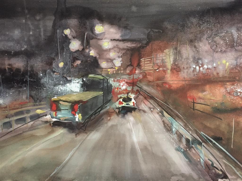 Kveldsvei Akvarell (70x100 cm) kr 9000 ur