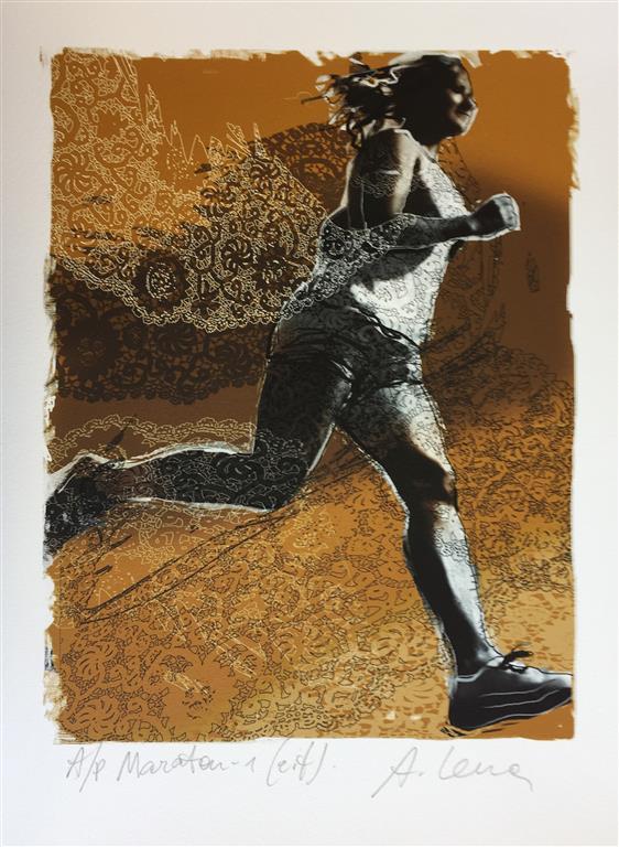 Maraton 1 Egen teknikk (25x19 cm) kr 1500 ur