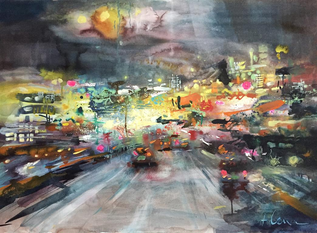 UrbanTempo Akvarell (70x100 cm) kr 9000 ur