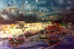Rushtid Akvarell (70x100 cm) kr 9000 ur
