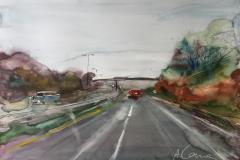 Veien er lang Akvarell (70x100 cm) kr 9000 ur