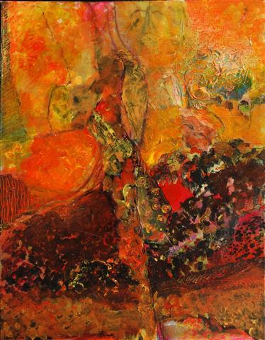 Anisette i dansen Akrylmaleri 90x70 cm 6000,-kr m.r.