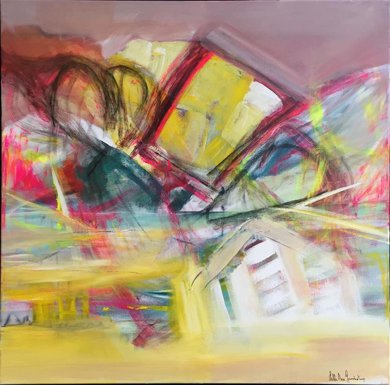 Maskerade Akrylmaleri 80x80 kr 6500 mr (Medium)