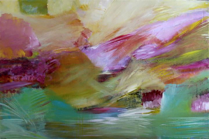 Sommersted Akrylmaleri 100x150 cm 12000,-kr m.r.