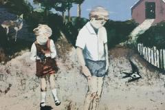 Sommerminne Litografi, 5 farger (40x40 cm) kr 3300 ur