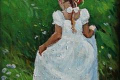 Hvit kjoele Maleri 50x28 cm 5000 mr