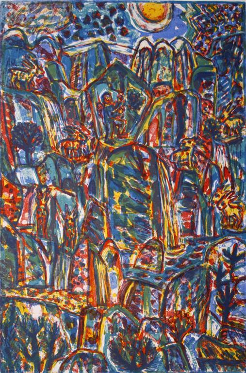 TindeBestiger Litografi 58,5x38,5 cm 1600 ur