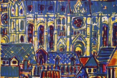 Katedral Litografi 33x33 cm 1200 ur