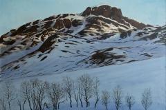 Bitihorn, Jotunheimen Oljemaleri 73x95 cm 30000 ur
