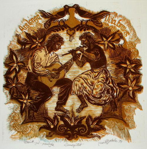 Samspillet Tresnitt (46x41 cm) kr 5000 ur