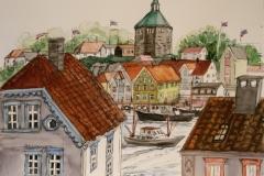 Stavange-minne IV Akvarell (29,5x41 cm) kr 7000 ur